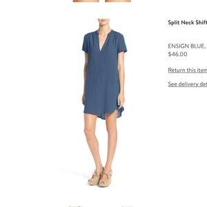 Split neck shift dress from Nordstrom